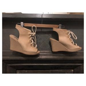 Opening Ceremony Open Toe Laced Wedges